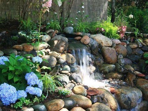 Delicieux Green Stone Artificial Garden Waterfall