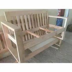 Wood Three Seater Sofa Frame