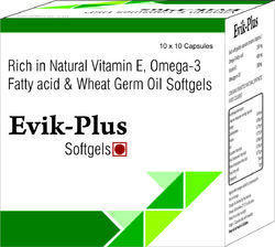 Rich In Natural Vitamin E Omega-3 Fatty Acid and Wheat Germ Oil Softgels
