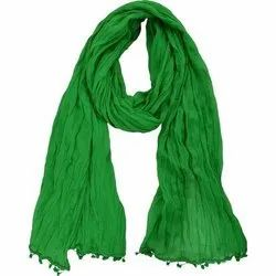 Green  Plain Cotton Dupatta
