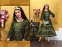 Ladies Rayon Anarkali Kurtis