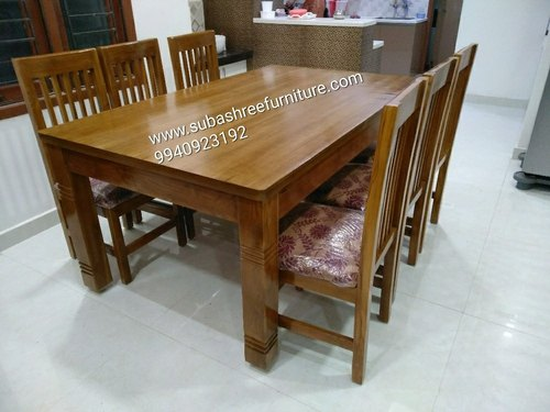 Teak Wood Dining Table Size Dimension 4 Seater Rs 18000 No Id 20728230612