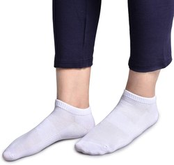 White Silicon Loafer Socks