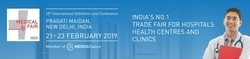 Participating in Medical Fair India 2019, in Pragati Maidan, Delhi  from Feb 21~ 23rd, 2019.