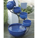 Ceramic Blue Readymade Water Fountain