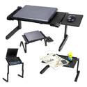 Black Laptop Table 17 Inch With Big Cooling Fan