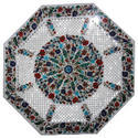 White Marble Inlay Design Inlay Table Top