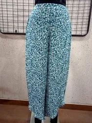 Ladies Printed Rayon Crepe Trouser