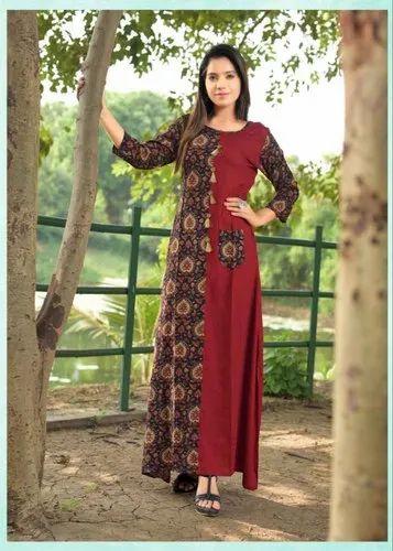 Rayon Casual Wear New Kurti Design 2019 Size L Xl Xxl Rs 575 Piece Id 20834581362