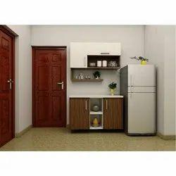 Wooden Rectangular Designer Kitchen Cabinet