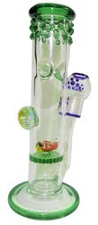 Glass Single Disk Honeycomb Water Pipe 10 Inch Bong