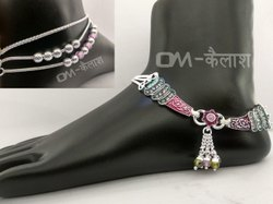 Party Wear Silver Anklet