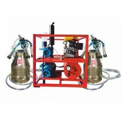 Double Bucket Milking Machine With Engine