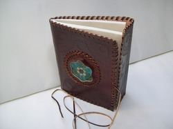 Vintage Leather Binding Journal with Stone