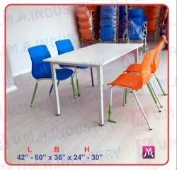 VMA 42-60 X 36 X 24-30 Inch Canteen Plastic Table With Chair