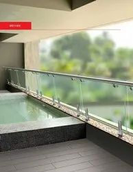Stainless Steel Top Ss Balcony Glass Railing Design