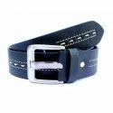 Designer Blue Leather Belt