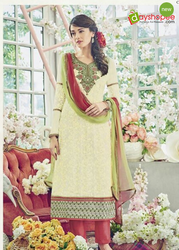 Cream Casual Wear And FUNCTION / OCCASIONAL Georgette Designer Suit-5163