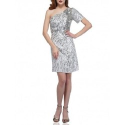 Polyester Silver Skew Western Wear Dress