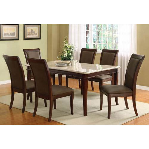 Granite Dining Table Set: Brown Rectangular Granite Dining Table Set, Rs 70000 /set