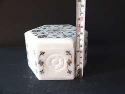 White Marble Inlay Work Jewelry Box