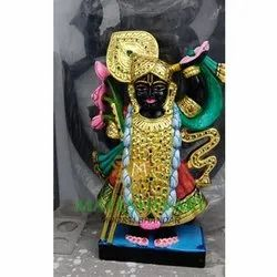 Polishing Black Marble Shrinath Statue