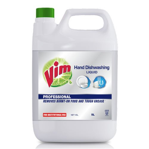 Lemon Vim Hand Dishwashing Liquid, Packaging Type: Plastic Can, 5 Litre