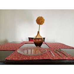 Red Printed Table Mats