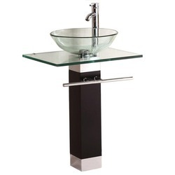 Bathroom Glass Vanity Set