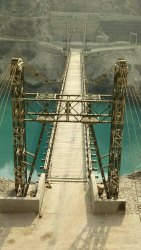Bailey Suspension Bridge Launching