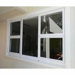 White Aluminium Casement Window, for Residential