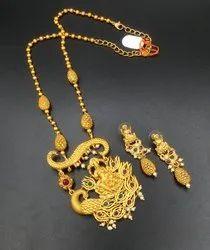 Matte Finish Long Jewellery Set - D 5001