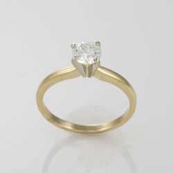 Gold Solitaire Ladies Rings