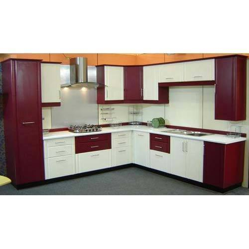 Modular Kitchen: Modern L Shape PVC Modular Kitchen, Rs 180 /square Feet