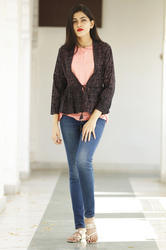 Reyon Short Top With Jacket