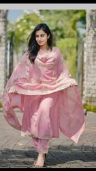 Ladies Designer Pink Suit