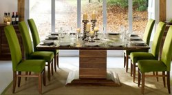 Six Seater Dining Set with Top Glass
