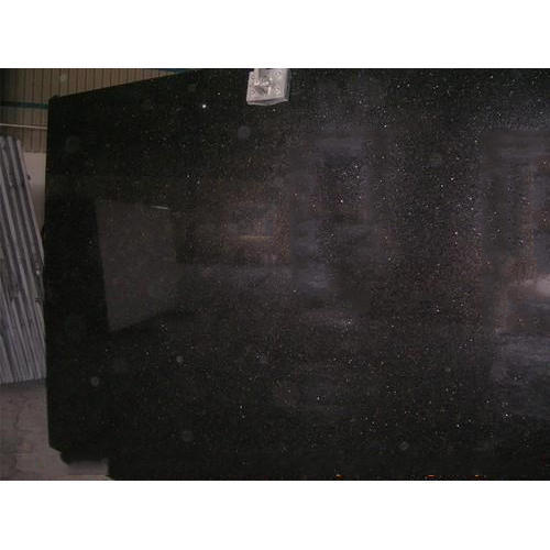 Big Slab Black Galaxy Polished Granite, Thickness: 5-10 mm