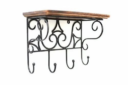 Amaze Wooden And Wrought Iron Wall Bracket Brown Standard Size