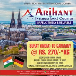 Courier Services For Germany In Surat Varachha By Arihant International Courier Id 20428617791
