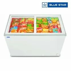 Blue Star GT400A 388 Ltrs Glass Top Deep Freezer, -18 Degree To -22 Degree C