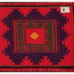 Embroidered Rectangular 46 X 84 Inch Cotton Silk Jamakkalam Carpet, For Home, Weave: Hand Weave