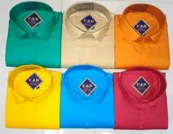 U&B Polo Plain Shirt, Size: Medium and Large