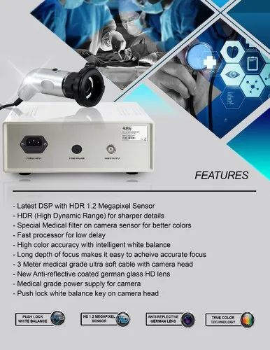 ESC Endoscopy camera HD Rigid Endoscope ENT Medical Laparoscopy w/ Coupler  Adapter 1 2 Mp HDR