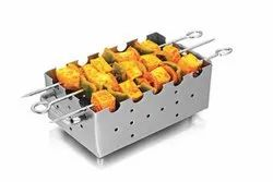 King International Silver Grey Steel Handmade Table Tandoor for Paneer Tikka Chicken Dish