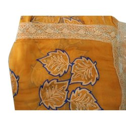 Embroidered Nazmin Chiffon Saree, 6 m (with blouse piece)