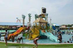 5 Platform Water Park Slide