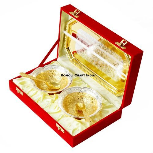 Wedding Favor Return Gift Gold Plated Bowls Set Diwali Gifts Sone