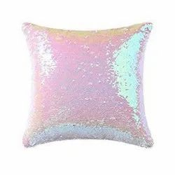 Sublimation Multicolor Mermaid Square Magic Sequin Personalize Pillow Cushions Heart Square