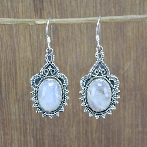 d530e510948b2 925 Sterling Silver Fine Jewelry Natural Rainbow Moonstone Gemstone Earring  We 6010